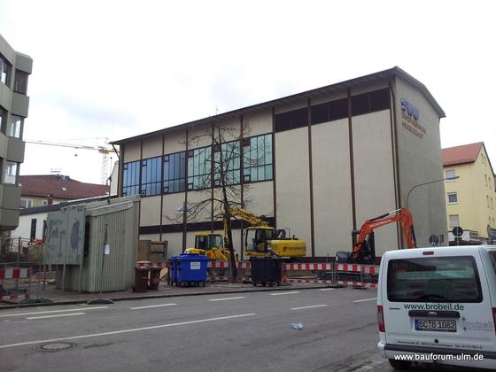 Ulm Wohn- und Einkaufsquartier Sedelhöfe  Abriss der Bestandsbebauung April 2013 (4)