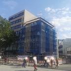 Ulm, Neubau, Apotheke und Ärztehaus, Bahnhofstraße 13, Juli 2020