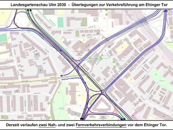 LGS Ulm 2030 - Überlegungen zur Verkehrsführung am Ehinger Tor 07 17x12cm