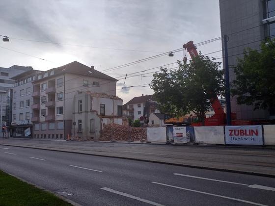 Ulm Abriss Justizhochhaus Olgastrasse Juni 2017