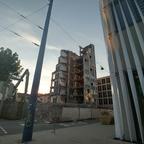 Ulm Abriss Justizhochhaus Olgastrasse August 2017